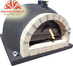 AMAZING OUTDOOR GARDEN BRICK WOOD FIRED PIZZA OVEN 100x100 BLACK CORK MODEL