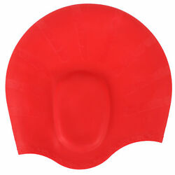 2 Swim Caps for Long Hair Silicone Swimming Hat w Ear Pockets for Men and Women $8.95