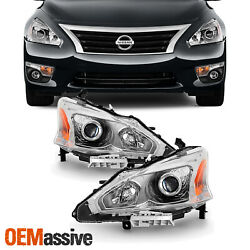 Fits 2013 2015 Altima 4DR Sedan Headlights Lamp Replacement LeftRight 13 14 15 $126.99