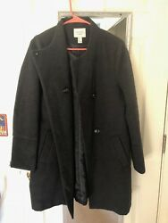 Forever 21 GreyGray Wool-Blend Coat Mid-Length Gently Used Size Large