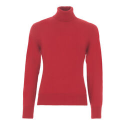 TOM FORD Cashmere Turtleneck Sweater M  50EU Red Made in Italy