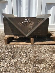 Fire Pit Collapsible and Portable 5-Piece plasma cut 14-Inch Steel
