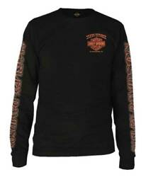 Harley Davidson Men#x27;s Eagle Piston Long Sleeve Crew Shirt Black 30299947 $36.95