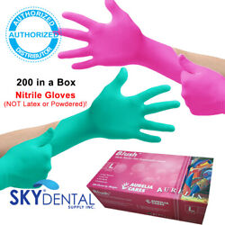 200 Box TopQuality NITRILE Latex Free Hypoallergenic Medical Gloves PINK GREEN $42.99