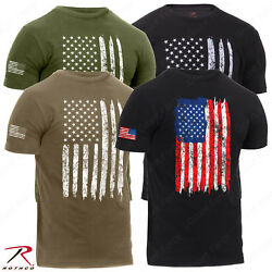 Rothco Men#x27;s Athletic Fit Distressed US Flag T Shirt $14.99