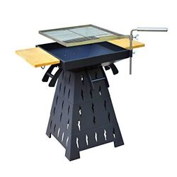 Outsunny Wood BurningCharcoal Outdoor Fire Pit BBQ Grill Combo