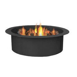 DIY Build Your Own In-Ground Wood Fire Pit Ring Rim Round Camping Grilling New