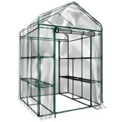 Large Outdoor Greenhouse Walk In Heavy Duty Clear Cover Shelves Tiers Flowers