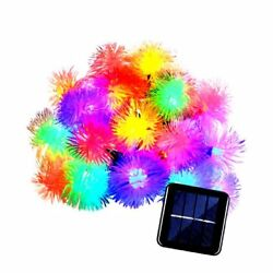 Qedertek Chuzzle Ball Solar Christmas Lights 15ft 20 LED Fairy Lights for..