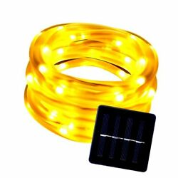 LE Solar Power 16.5ft 50 LED Rope String Lights Warm White Waterproof P..