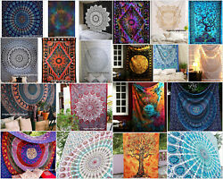 Indian Hippie Mandala Wall Hanging Twin Tapestry Bohemian Bedspread Beach Throw