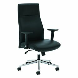 HON Define Executive Leather Chair - High-Back Office Chair for Computer Desk