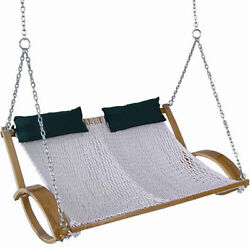 Rope Swing Hammock Tree Hanging Garden Outdoor Straps Chair Double Polyester NEW