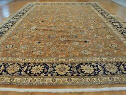 13 X 19 Hand Knotted Brown Antique Fine Old Persian Oriental Rug G22138