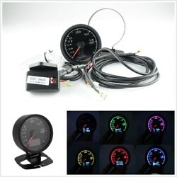 62mm2.5 inch 7 Color Light LCD Display Car Turbo Boost Gauge with Voltage Meter