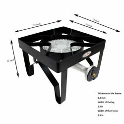 GAS ONE 200000 BTU Square Heavy- Duty Single Burner Outdoor Stove Propane Gas