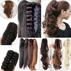 Real Natural Thick Jaw Claw Clip on in Ponytail as Human Remy Hair Extensions lk $10.79