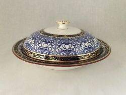 19th c. Royal Worcester Royal Lily Mortlock's London Soup Bowl With Lid.   #3110
