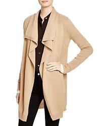Theory Trincy Cashmere Cardigan Size M CamelIvory RRP £325 Box46 16 E