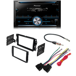 Pioneer FH S500BT Double DIN Bluetooth w Car Radio Stereo 2 Din Dash Kit $179.99