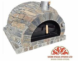 AMAZING OUTDOOR GARDEN BRICK WOOD FIRED PIZZA OVEN 100x100 RUSTIC STONE MODEL