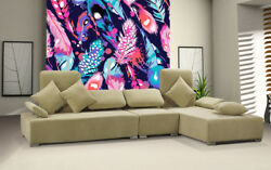 3D Colorful Feathers 45 Wall Paper Wall Print Decal Wall Deco Indoor Mural Lemon