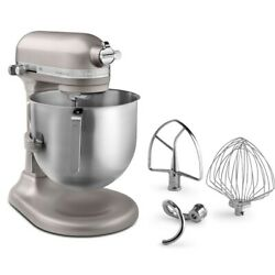 KitchenAid 8 Quart Commercial Stand Mixer NSF Certified Nickel Pearl