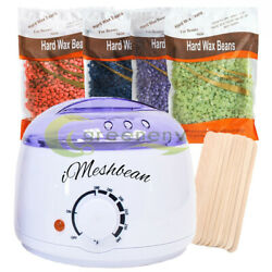 Pro Wax Warmer Wax Hair Removal Kit + 300g Hard Wax Beans +20pcs sticks US