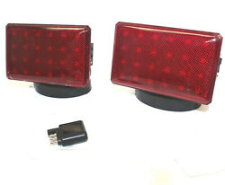 Rechargeable Wireless 48 LED Towing Light Signal Kit Truck Boat Haul Tow Lights $86.99