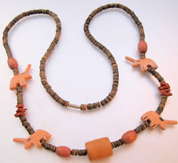 1980s Rhino Wooden Bead Necklace 31