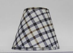 4 Country Plaid Fabric Chandelier Lamp Shades Multi Color Traditional any room $32.00