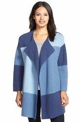 NEW Nordstrom Collection Colorblock Wool & Cashmere Sweater Jacket- SM $598