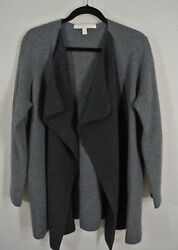NEW Nordstrom Collection Cashmere Blend Drape Front Sweater Jacket- Gray M