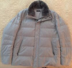 LORO PIANA Cashmere - MADE IN ITALY GOOSE DOWN JACKET SIZE XL - Retail $6595
