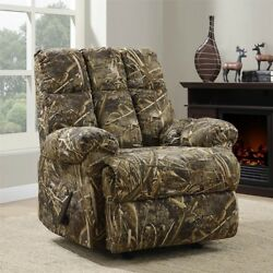 Camo Rocker Recliner Mens Realtree Reclining Chair Hunter Army Man Cave Décor