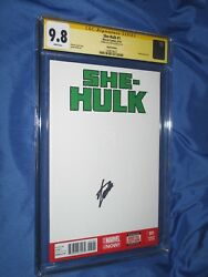 SHE-HULK #1 CGC 9.8 SS Signed by Stan Lee  ~Blank Sketch Variant  Avengers