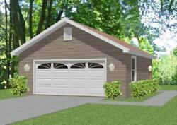 Garage House Home Plans 576 sf PDF file DOWNLOAD Full Construction Drawings