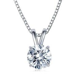 Umode Jewelry 2 Carat Round Cut Clear Cubic Zirconia Cz Solitaire Pendant Neckla