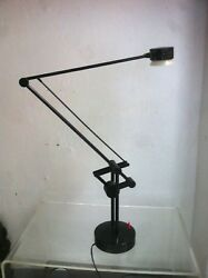 Vintage Industrial Articulated Desk Lamp Valentina by Valenti Italy 1980s