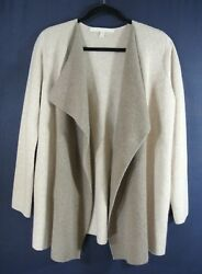NEW Nordstrom Collection Colorblock Cashmere Blend Sweater Jacket - S