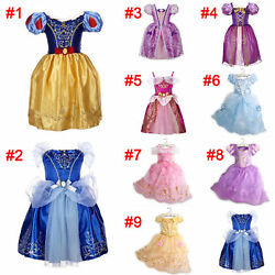 Girls Fairytale Princess Dress Kids Fancy Costume Party Dress Outfit 2-10 Years $8.99