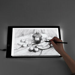 LED Slim Art Craft Drawing Copy Tracing Tattoo Light Box A3 A4 Pad Board WScale