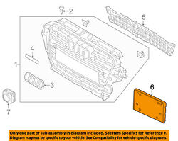 AUDI OEM SQ5 Front Bumper Grille Grill-License Bracket Mount Panel 8R0807285S1RR