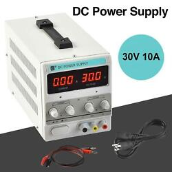 Adjustable Power Supply 30V 10A 110V Precision Variable DC Digital Lab w clip $59.99