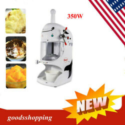 Commercial Electric snow coneSnow machineShaved Ice machine ice crusher350W