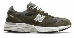 New Balance Men's Classic 993 Running Shoes Green $154.99