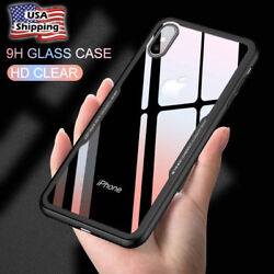 Full Body Cover Back Tempered Glass Shockproof Phone Case Skin For iPhone XS MAX