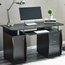 Computer Study Desk Laptop Table Writing Workstation WBookshelf Home Office New $176.99