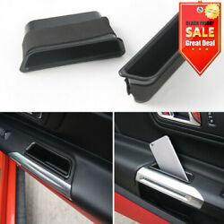 2PCS Front Door Side Storage Box Armrest Phone Container For Ford Mustang 2015+ $12.89