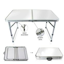 Aluminum Folding Table 4#x27;Portable Indoor Outdoor Picnic Party Camping Tables NEW $32.98